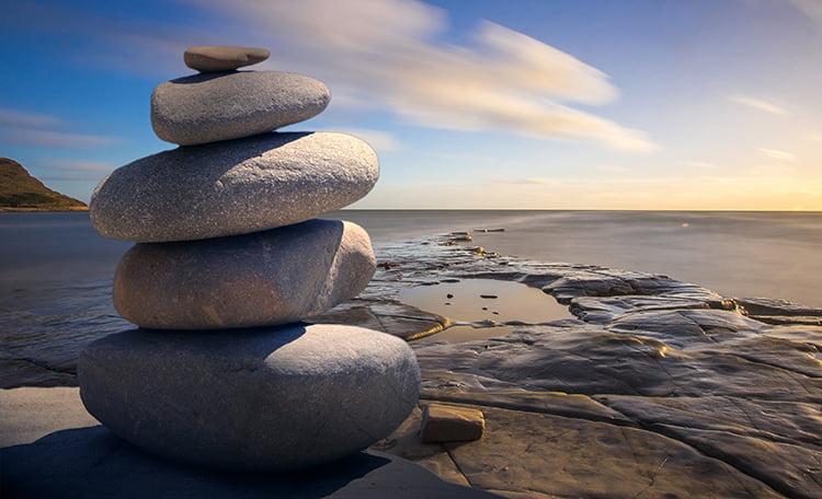 Stacked Rocks Ocean
